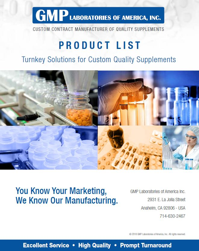 GMP Labs Catalog Cover