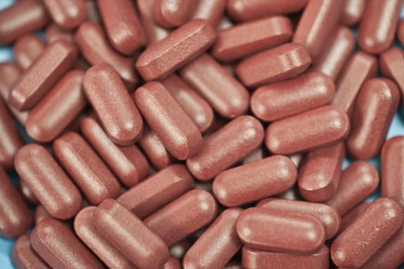 Maroon Color Coated Tablets