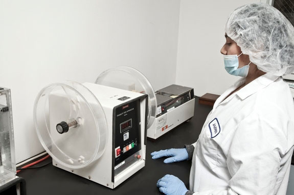 GMP has the ability to test on-site tablet Friability and Hardness