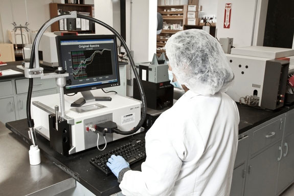 All materials must go through FTNIR testing prior to being Released by QC for use at the GMP facility