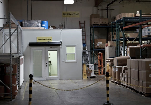 All materials that arrive at GMP are first quarantined, sampled and tested before being released by QC